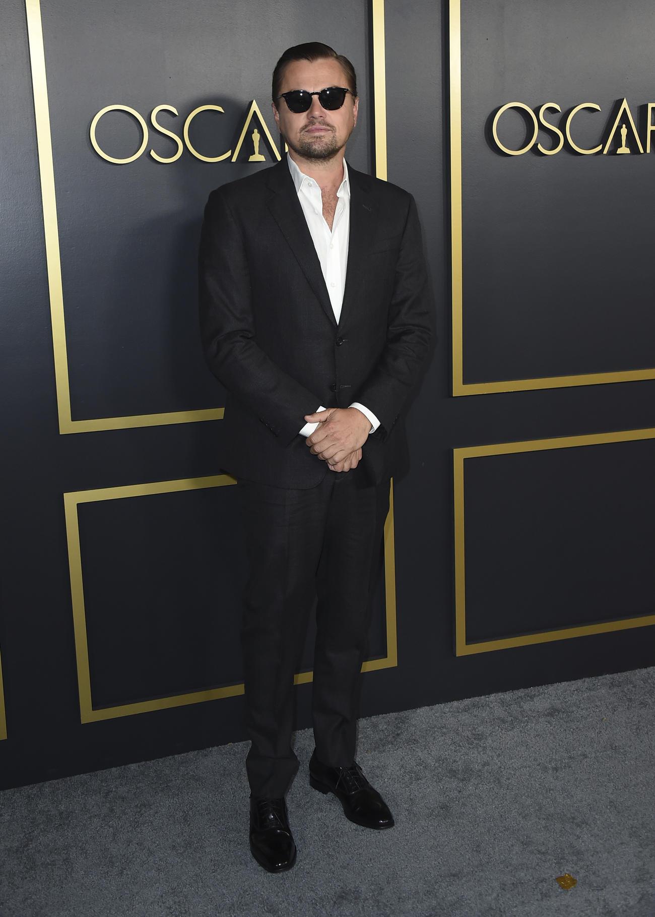 第92回アカデミー賞ノミネートランチョンに到着したレオナルド・ディカプリオ(AP)