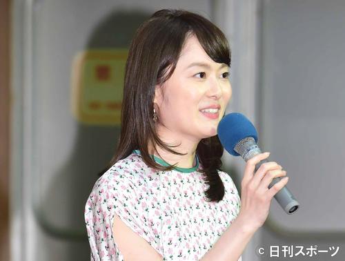 2020年度NHK番組新キャスター取材会に臨む浅野アナ(撮影・小沢裕)