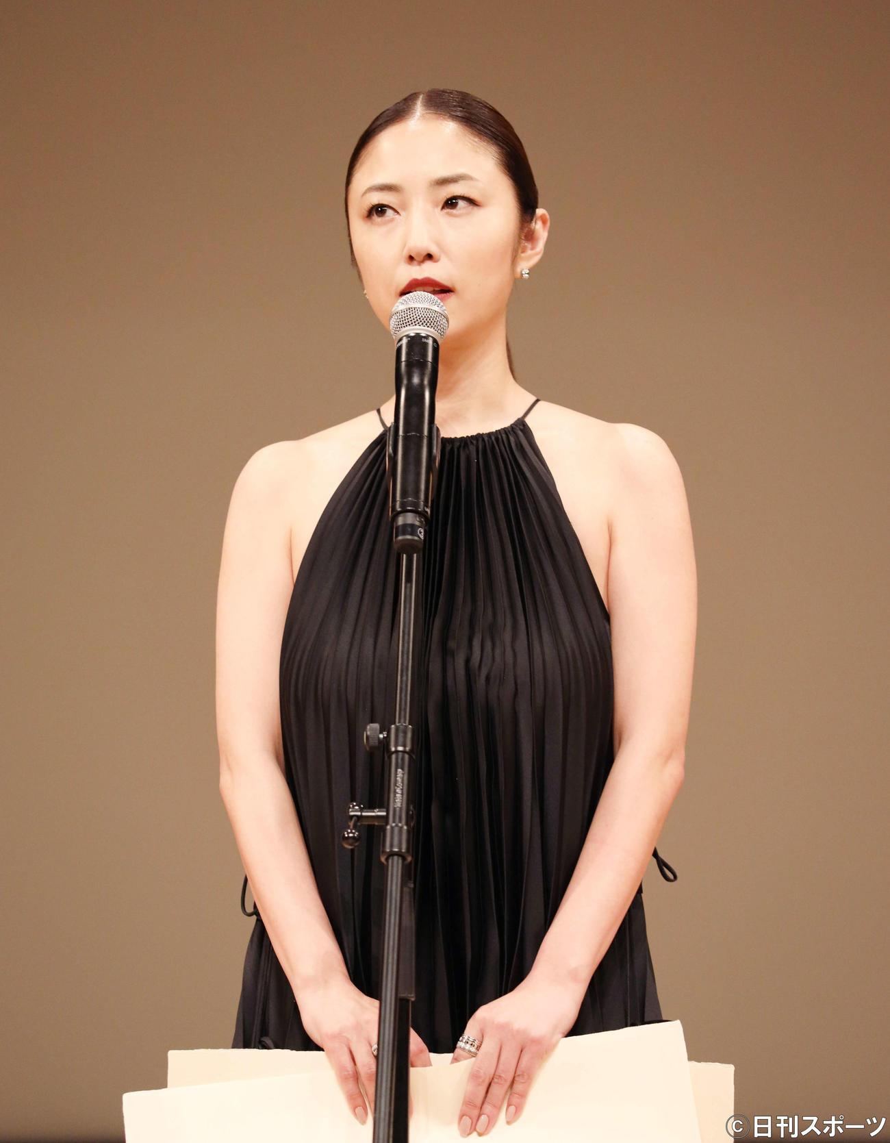 助演女優賞を受賞するMEGUMI(撮影・河田真司)
