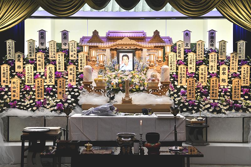 川口市で営まれた松島アナの葬儀(文化放送提供)
