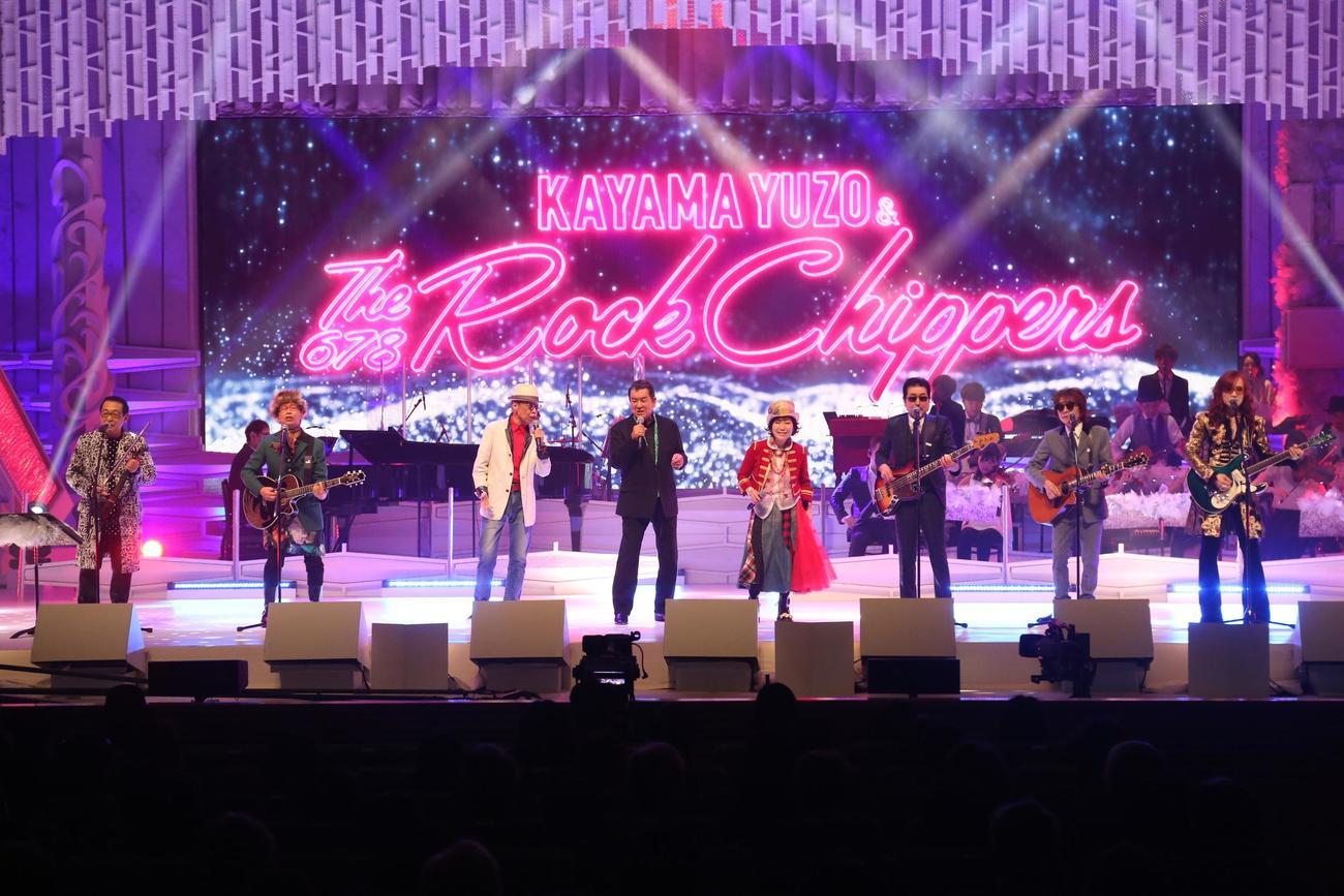 「ミュージックフェア2800回コンサート」に出演した加山雄三&The Rock Chippers