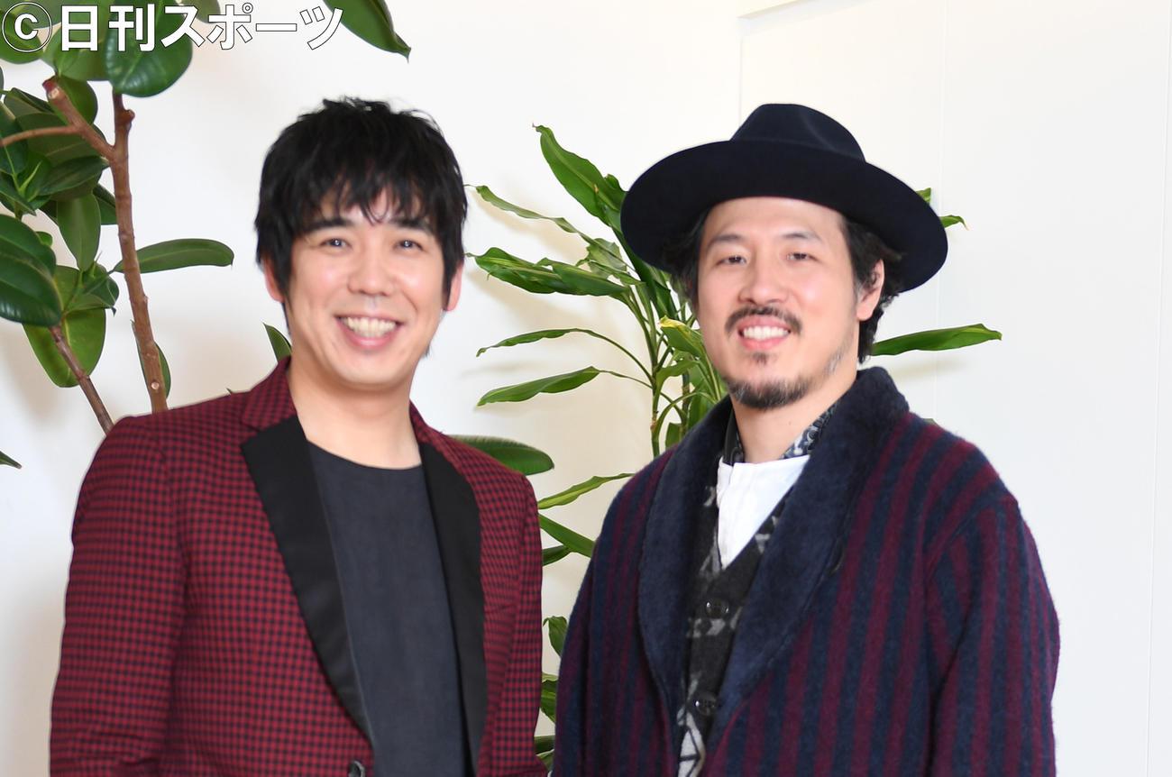 スキマスイッチの大橋卓弥(左)と常田慎太郎