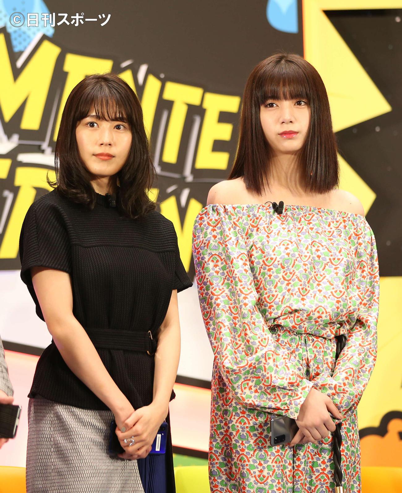 「UNLIMITED WORLD au 5G」のトークセッションを行った有村架純(左)、池田エライザ