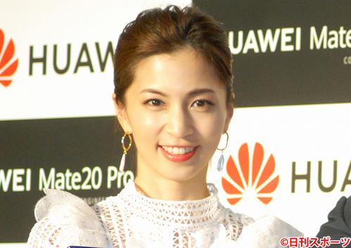 安田美沙子(2018年11月28日撮影)