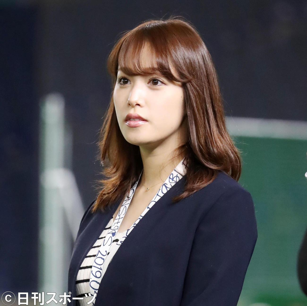 鷲見玲奈アナウンサー(2019年4月3日撮影)