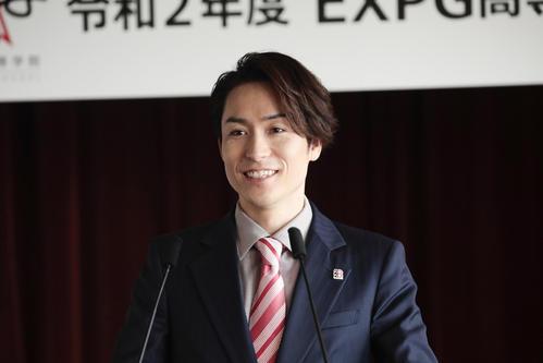 "Photo of President Tetsuya ""Dream Together"" Online Entrance Ceremony"