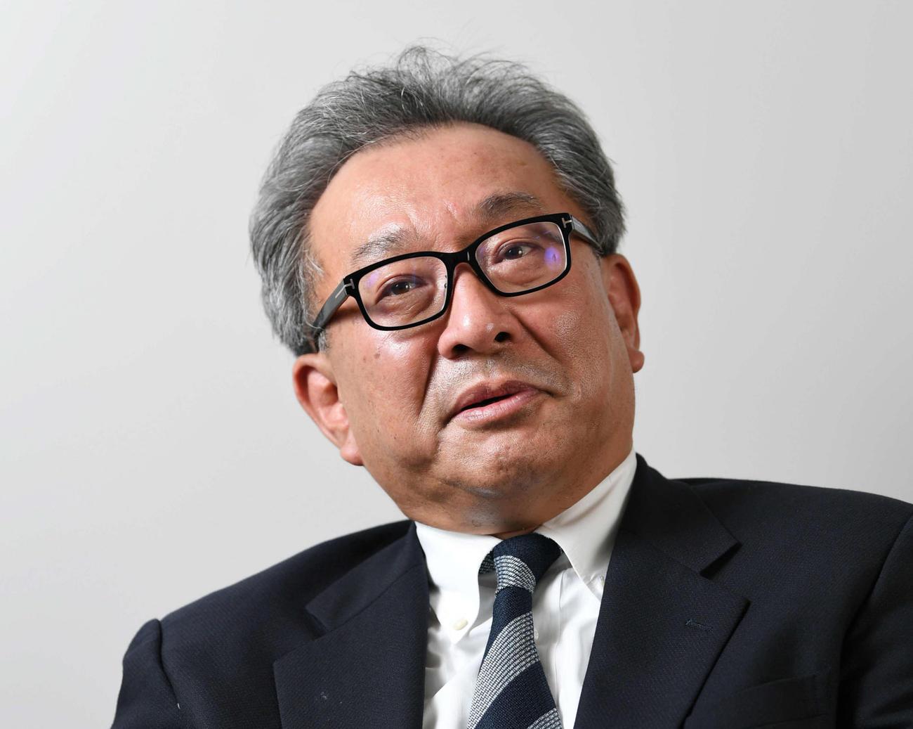 フジテレビ遠藤龍之介社長(19年6月撮影)