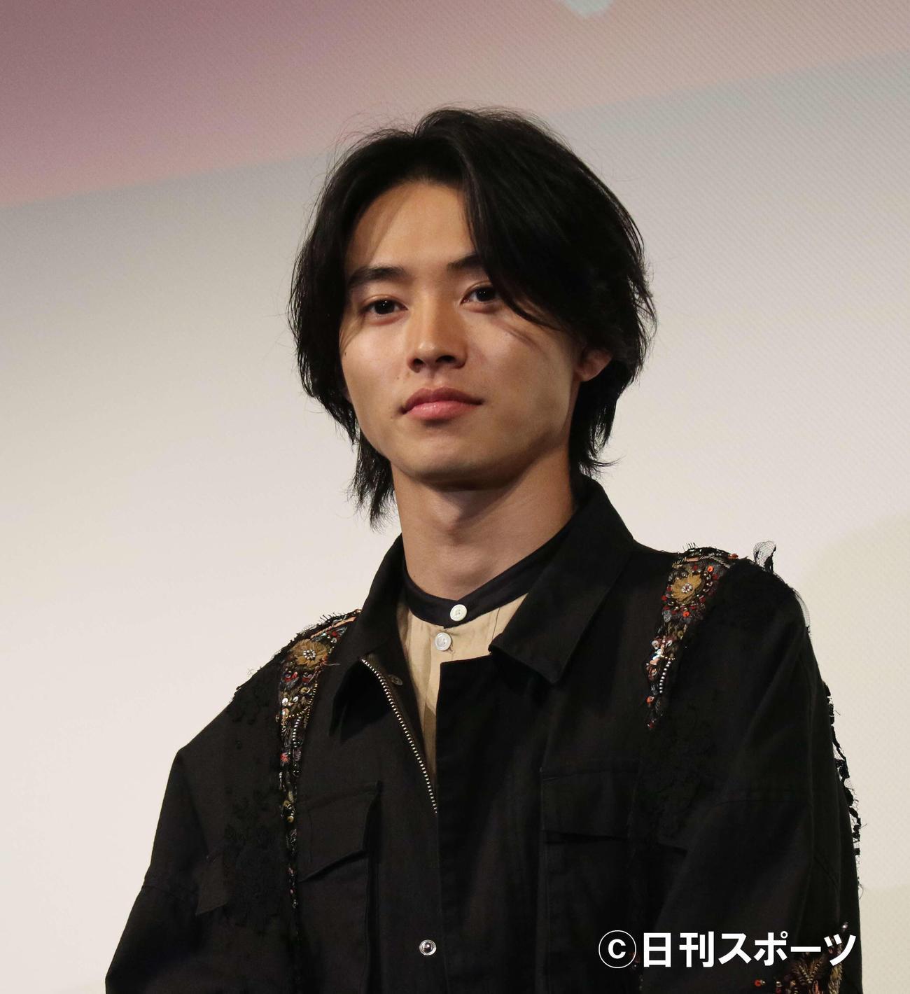 映画「キングダム」の舞台あいさつに出席した山崎賢人(2019年4月8日撮影)