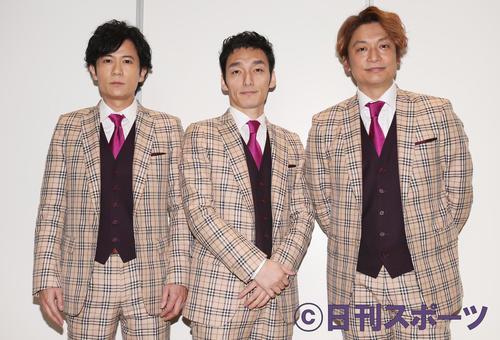 左から稲垣吾郎、草なぎ剛、香取慎吾(19年3月撮影)