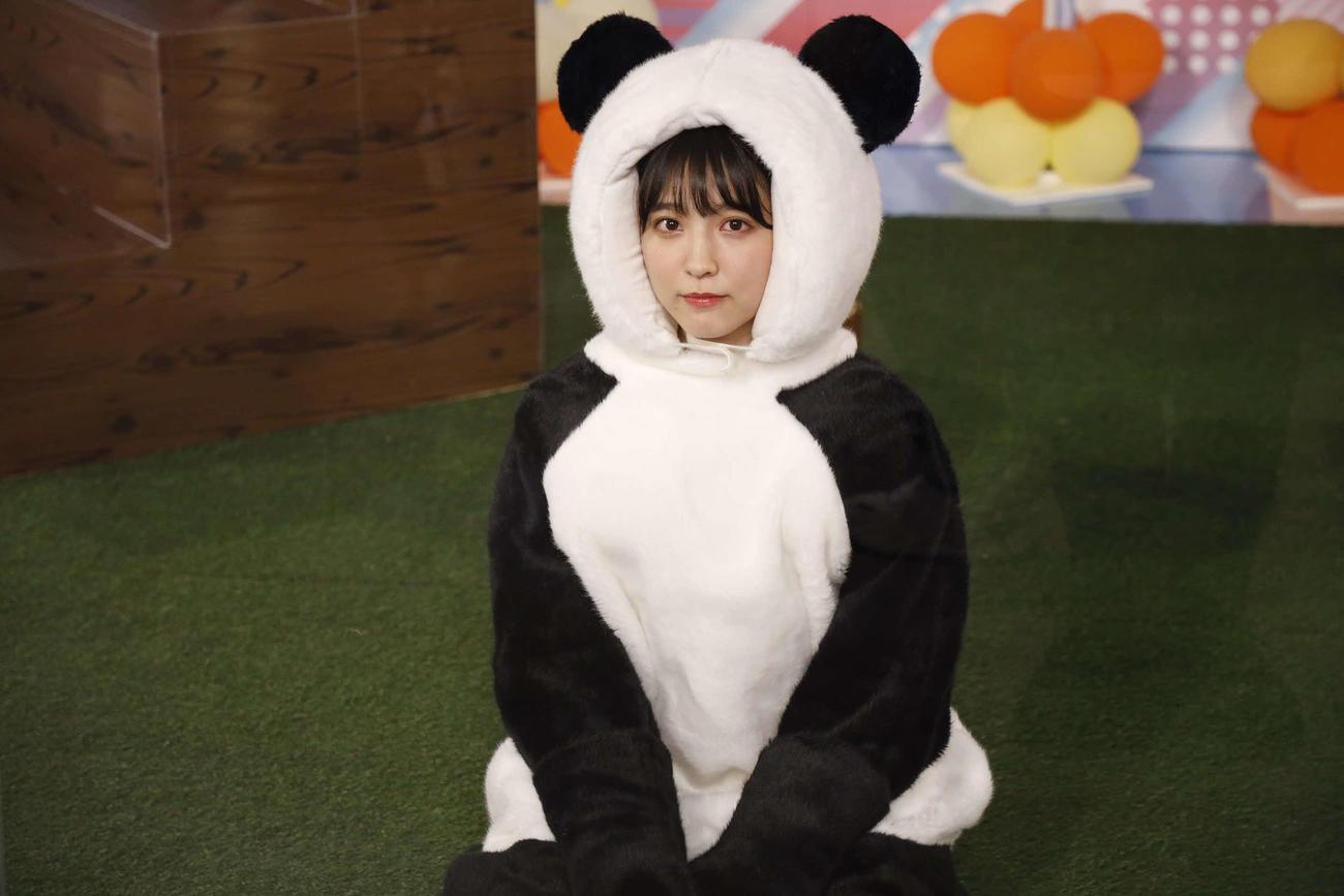 ABEMA「乃木坂46時間TV」でパンダに変身した早川聖来