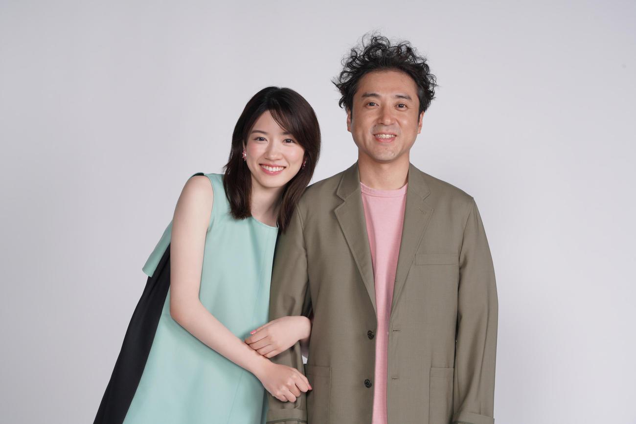「親バカ青春白書」に出演する永野芽郁(左)とムロツヨシ