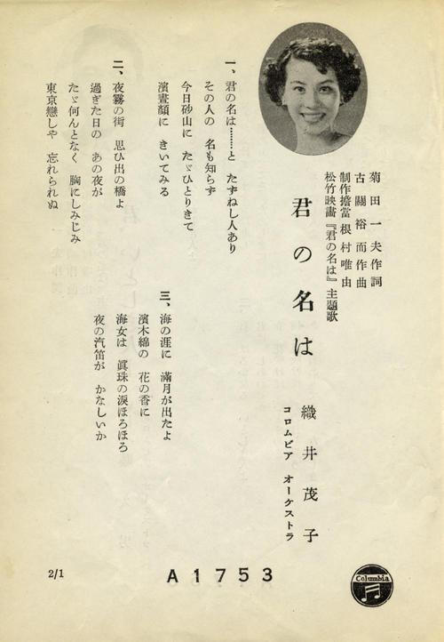 ただ1人「君の名は」などで映画配収3連覇/連載6