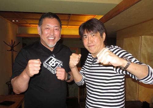 石橋貴明(右)のYouTubeチャンネル「貴ちゃんねるず」に登場し、「男気じゃんけん」にも臨んだ清原和博氏