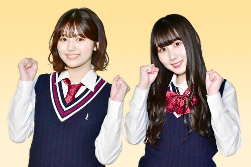 「SKE48 ZERO POSITION」でMCを務める北野瑠華(左)と新たに就任した井上瑠夏