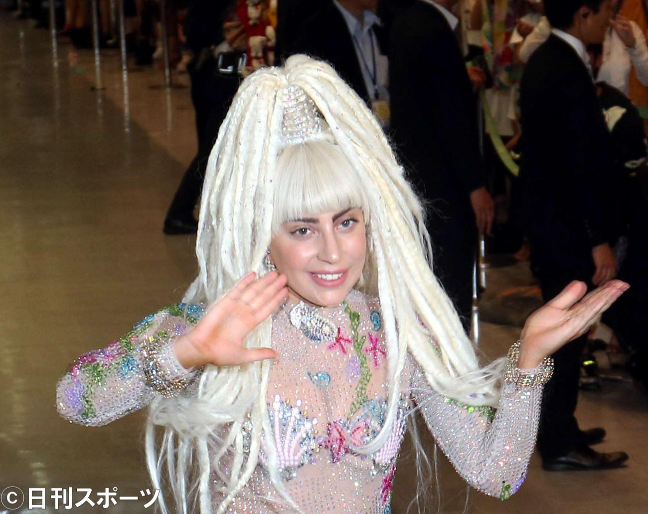 レディー・ガガ(2014年8月12日撮影)