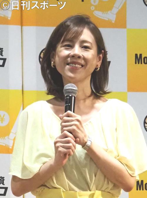 「マネーステップ」記者会見に出席した高橋真麻(撮影・遠藤尚子)