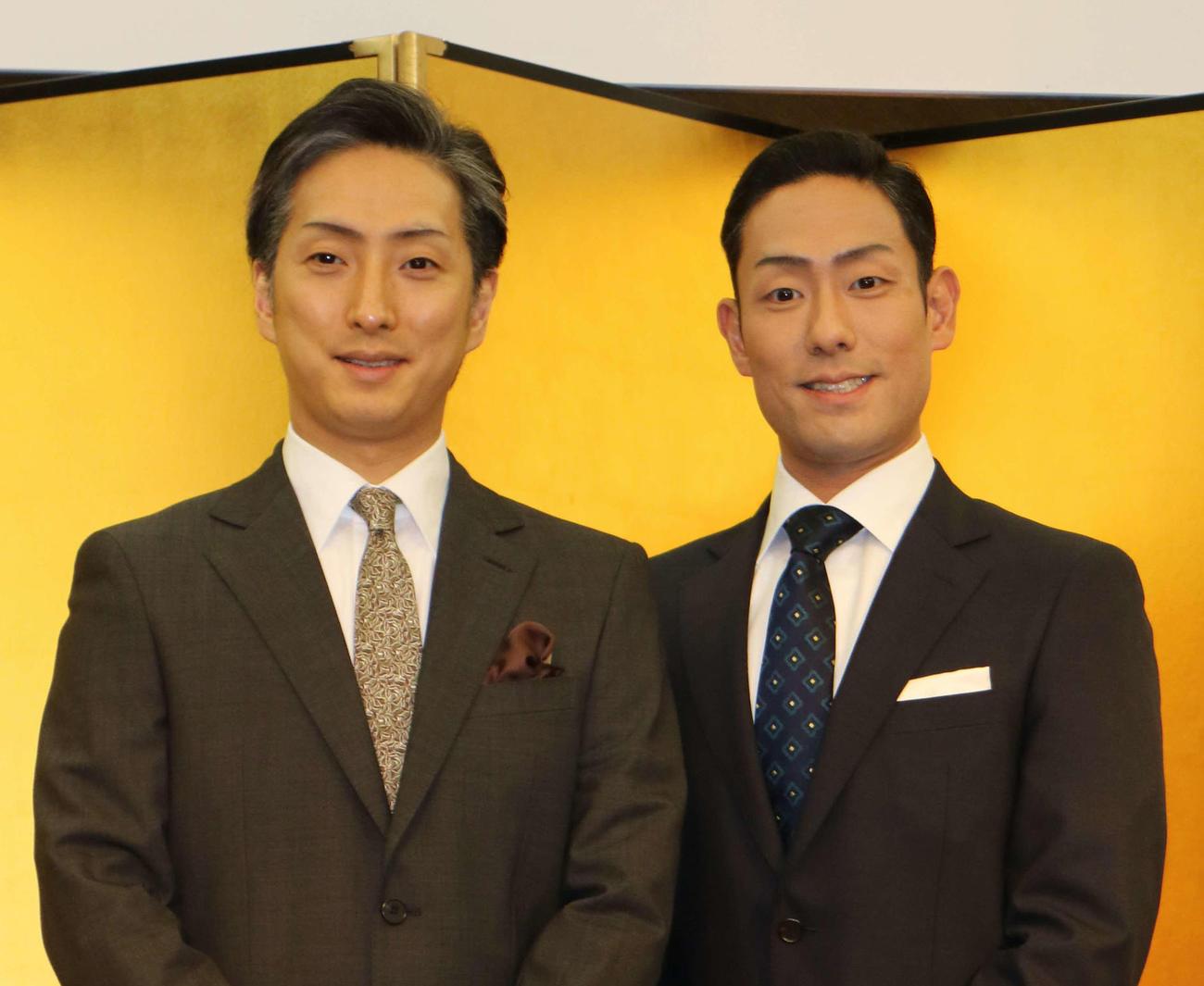中村七之助と中村勘九郎(2020年1月20日撮影)