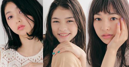 グランプリの3人。左から伊崎花菜、角田沙羅カタリーナ、中澤実子