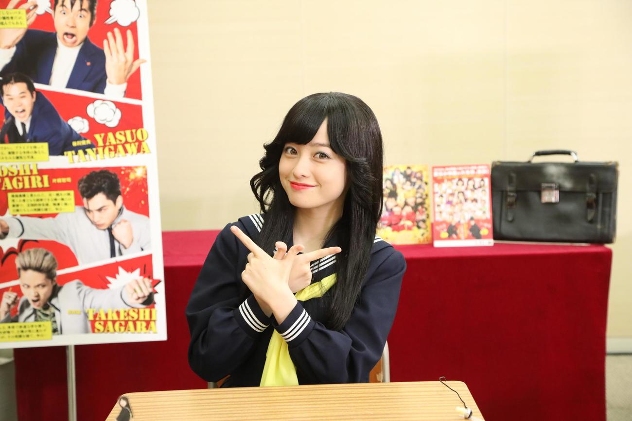 「今日から俺は!!劇場版」公開直前オンラインイベントに出演した橋本環奈