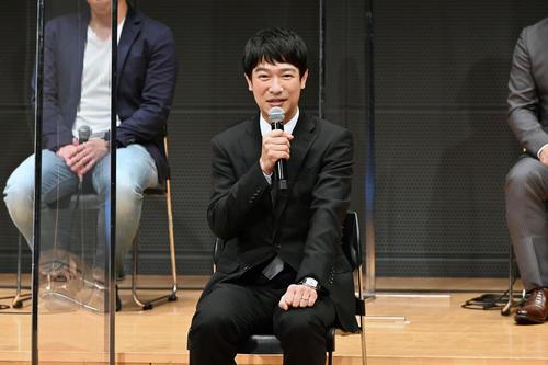 TBS系日曜劇場「半沢直樹」の制作発表会に出席した堺雅人(C)TBS