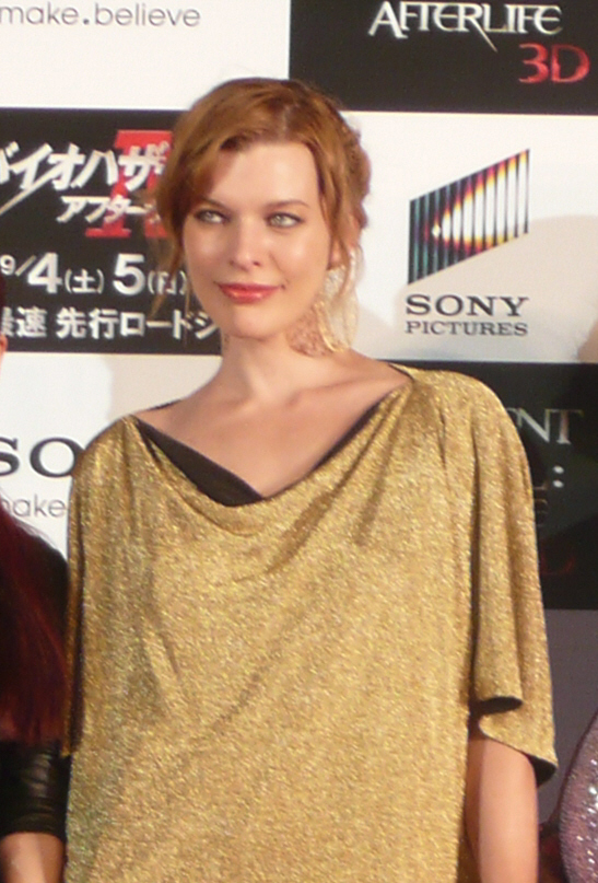 ミラ・ジョヴォヴィッチ(2010年9月2日撮影)