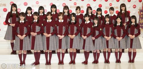 NHK紅白歌合戦初出場を決めた欅坂46のメンバーたち(撮影・中島郁夫)