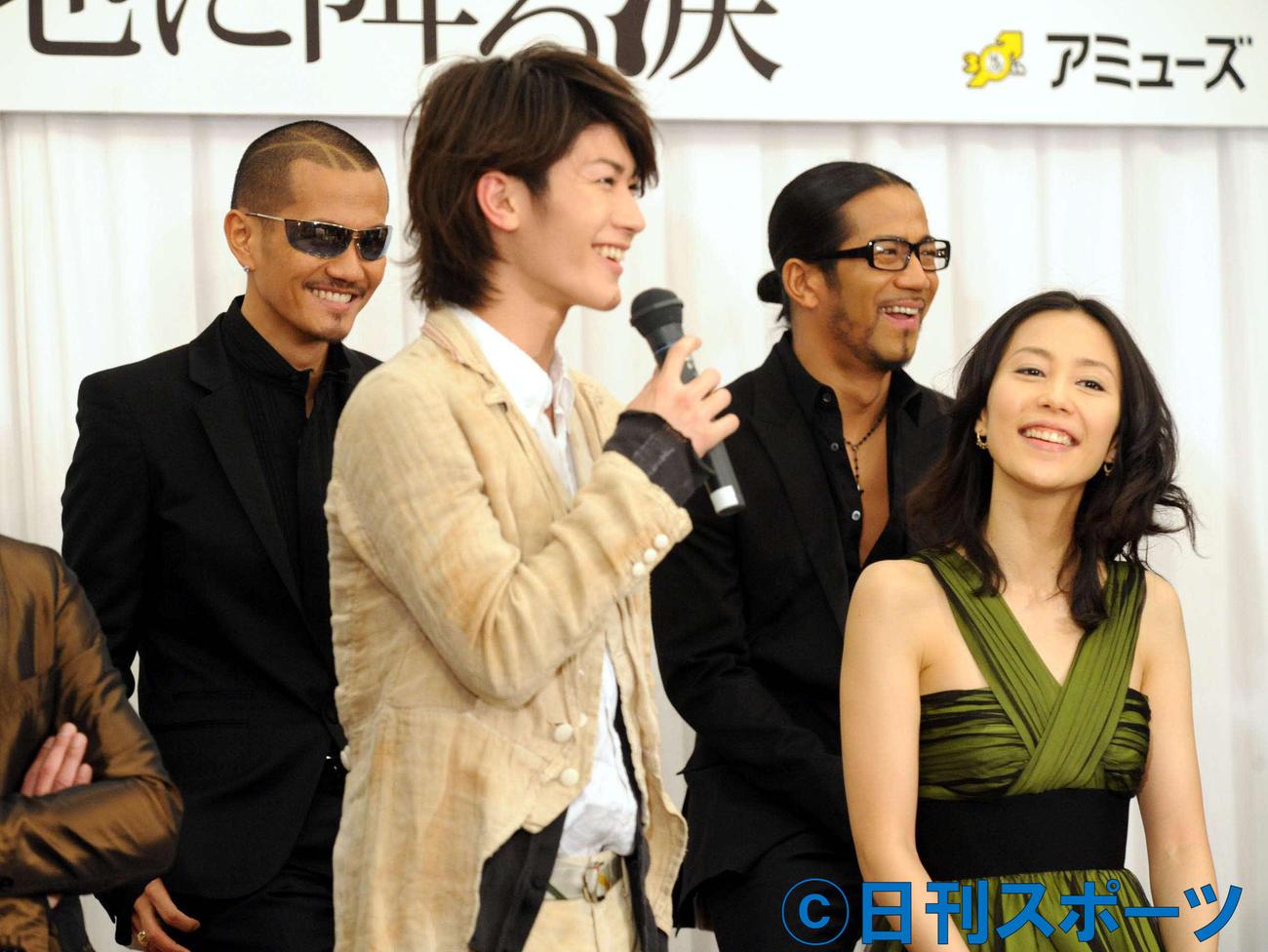 舞台「星の大地に降る涙」の制作発表会見 「EXILEの15人目のメンバーになりたい」と語った三浦春馬さん(2009年3月16日撮影)
