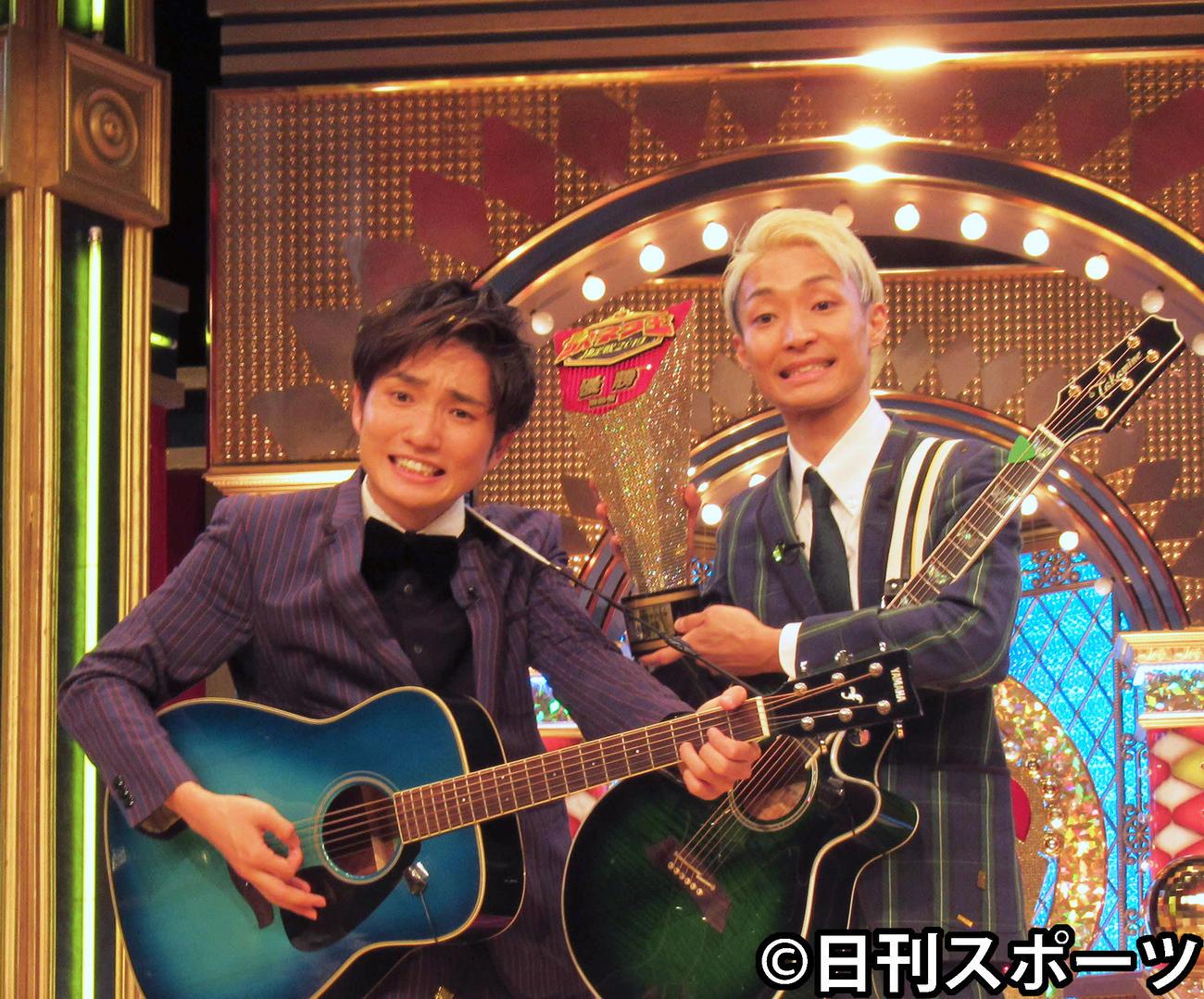 ラニーノーズの洲崎貴郁(左)と山田健人(2019年9月18日撮影)