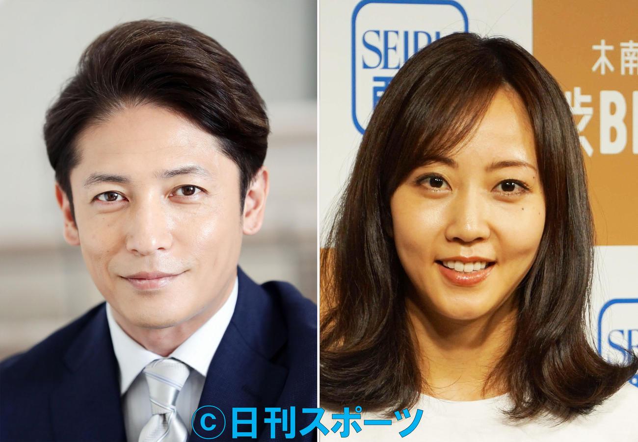 俳優玉木宏(左)と女優木南晴夏