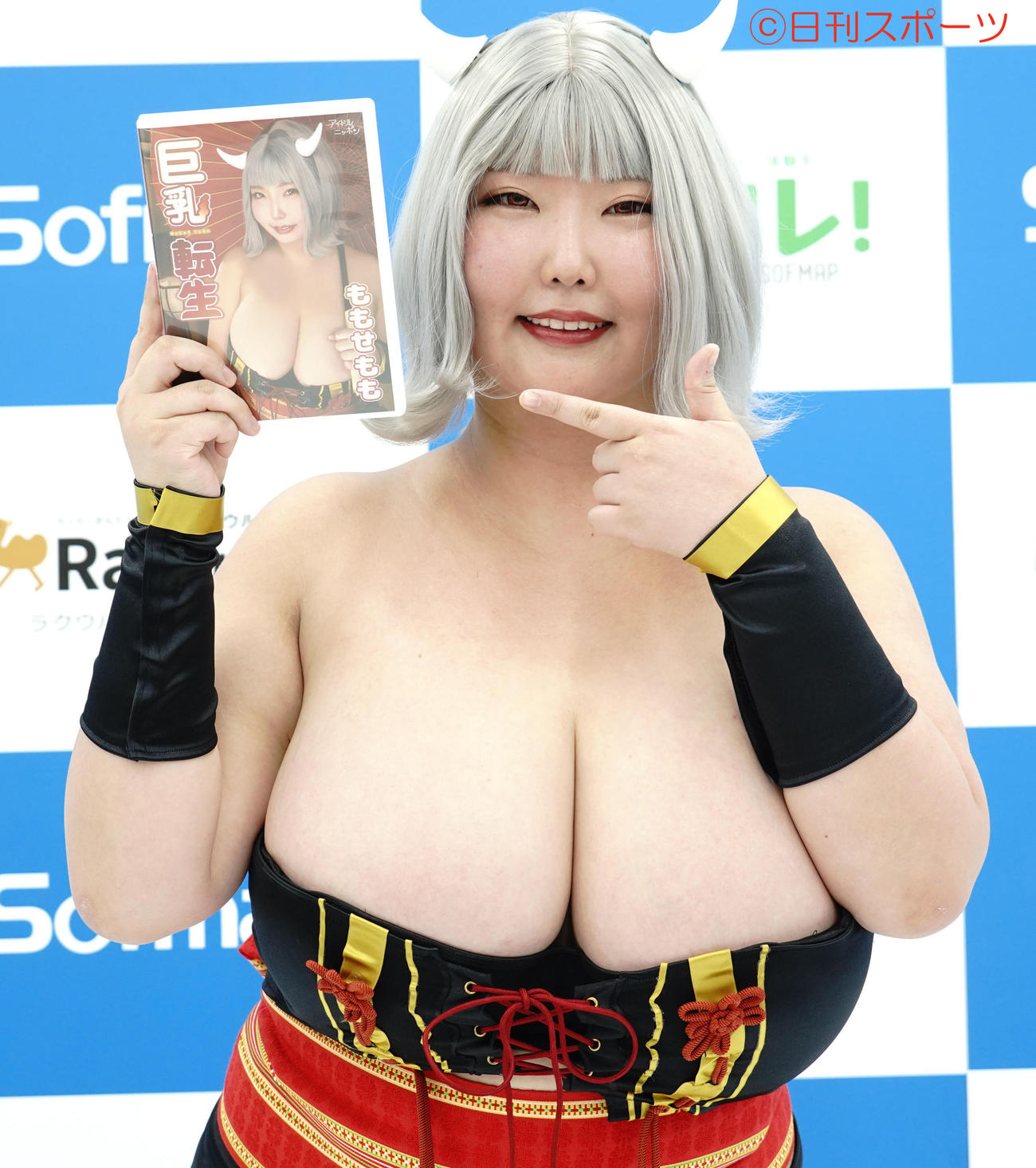 DVD「巨乳転生」発売記念イベントに出席したももせもも(撮影・佐藤成)
