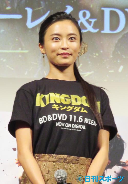 映画「キングダム」ブルーレイ&DVDリリース記念前夜祭に参加した小島瑠璃子(19年11月5日撮影)