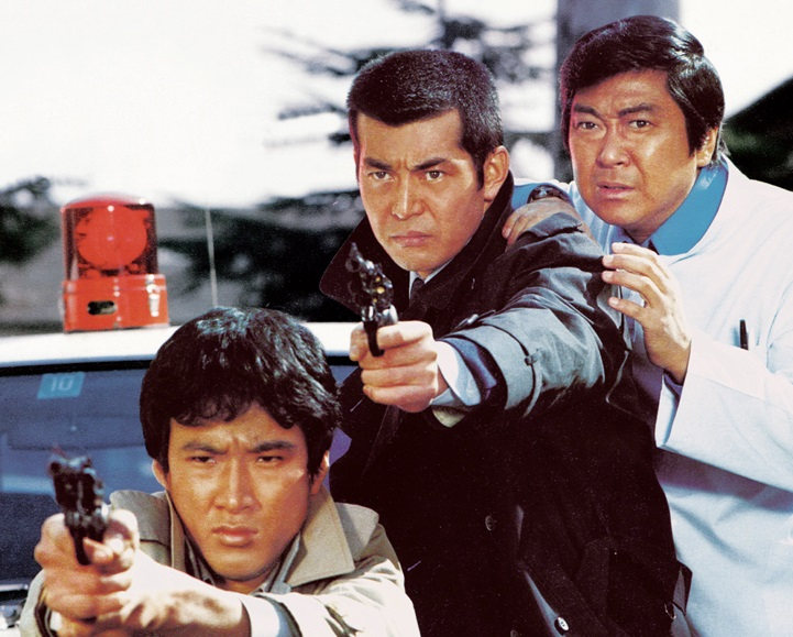 「大都会」で初共演した、左から松田優作さん、渡哲也さん、石原裕次郎さん(石原プロモーション提供)