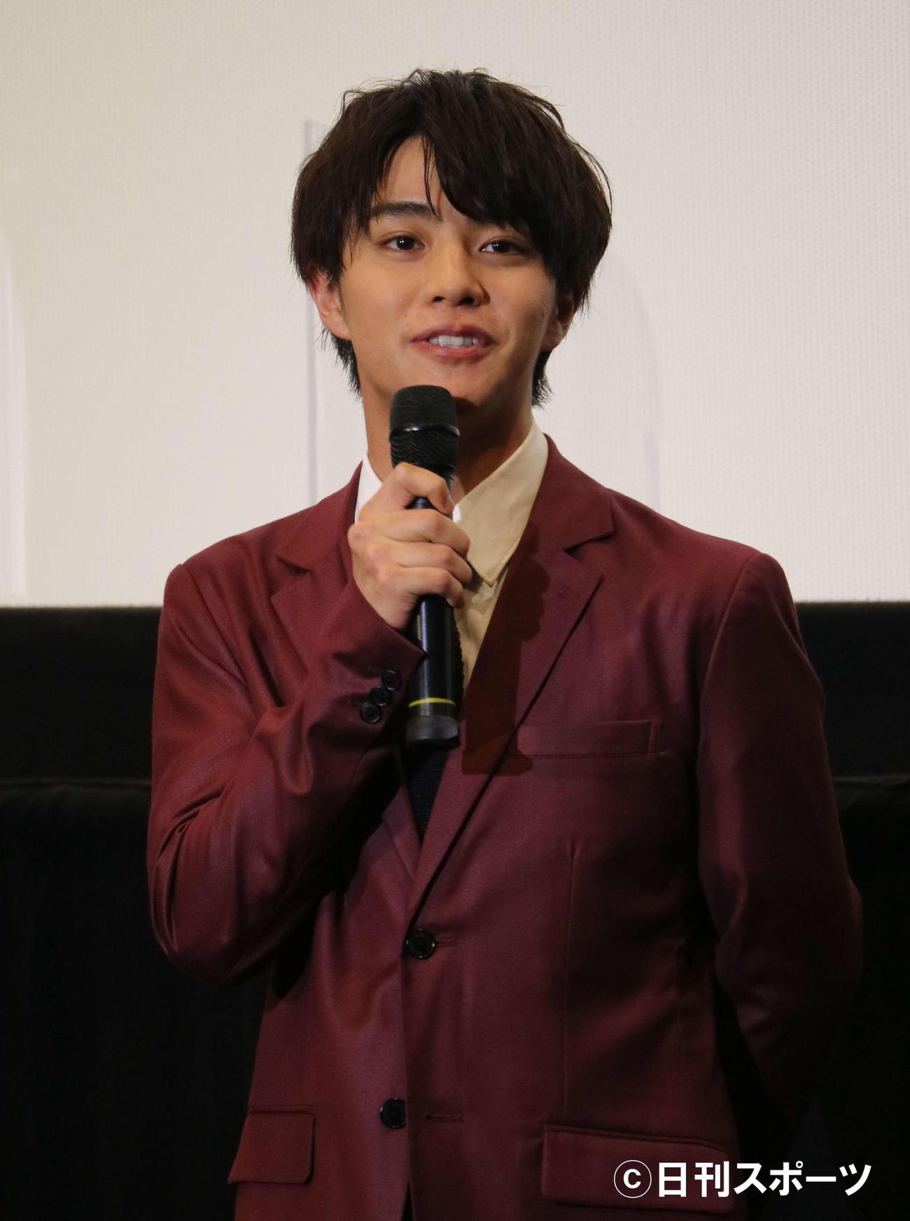 配信ショートムービー「宇宙でいちばんやさしい時間」の舞台あいさつに出席した、醍醐虎汰朗