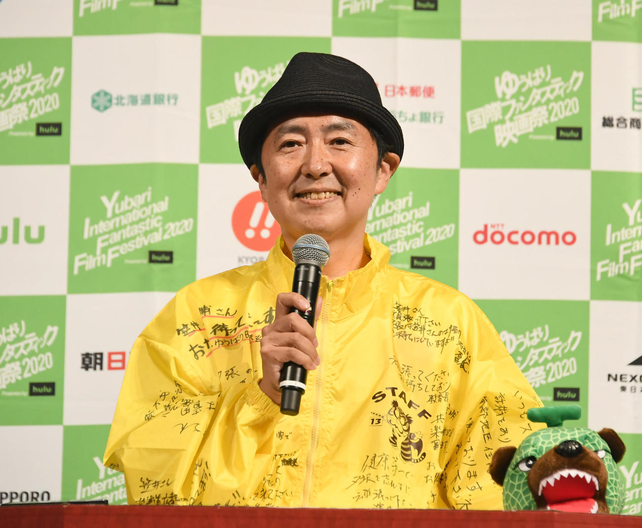 オープニングセレモニーで、MCを務める笠井信輔アナ(撮影・酒井清司)
