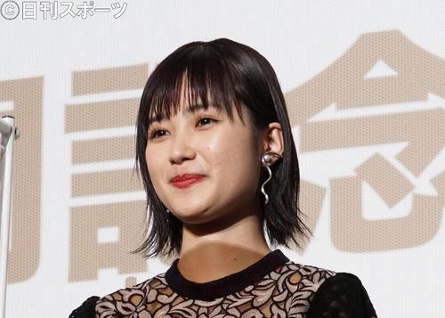 映画「鬼ガール!!」公開記念舞台あいさつに出席した井頭愛海(撮影・遠藤尚子)