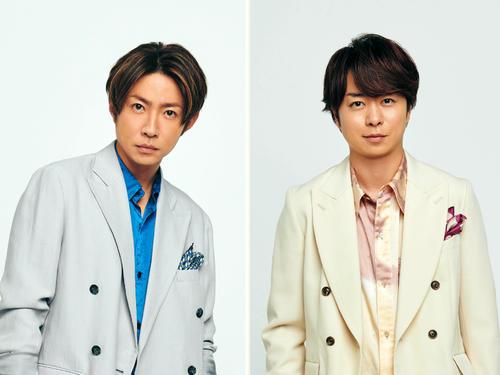 新番組「VS魂」を担当する相葉雅紀(左)と新番組「1億3000万人のSHOWチャンネル」でMCを務める櫻井翔