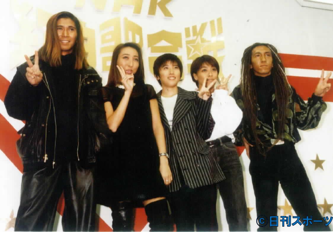 TRF。左からSAM、CHIHARU、YU−KI、ETSU、DJ KOO(1994年撮影)