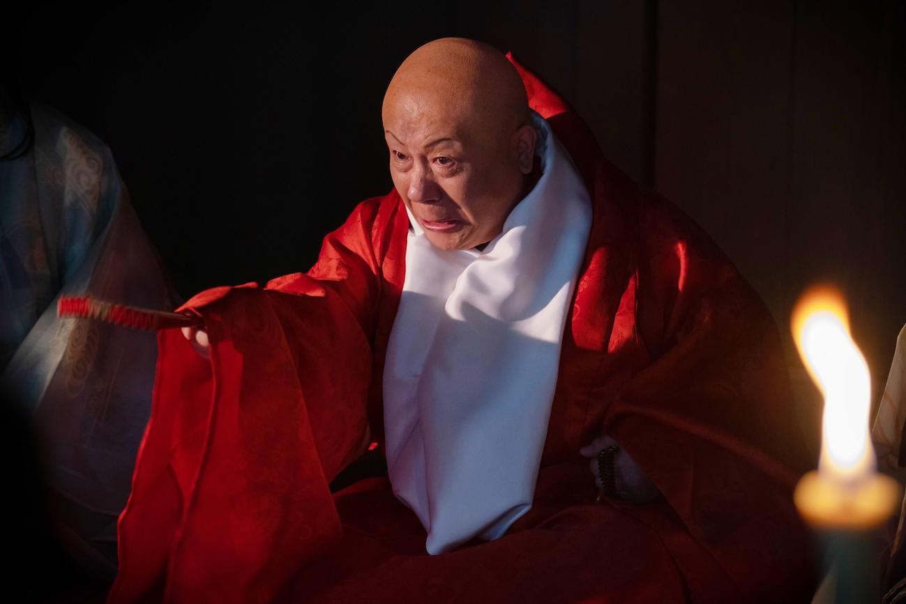 NHK大河ドラマ「麒麟がくる」で覚恕役を演じた春風亭小朝(C)NHK