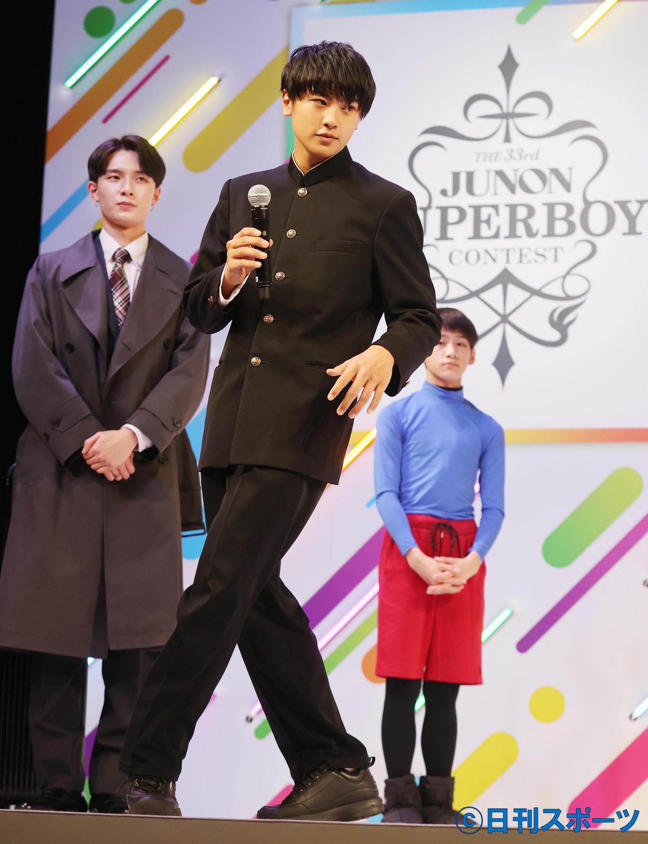第33回ジュノン・スーパーボーイコンテストでグランプリに輝いた前川佑さん(撮影・野上伸悟)
