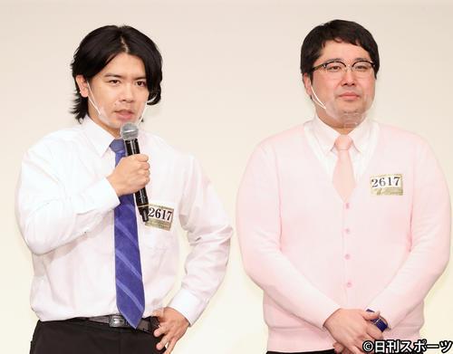 マヂカルラブリーの野田クリスタル(左)と村上(2020年12月2日撮影)