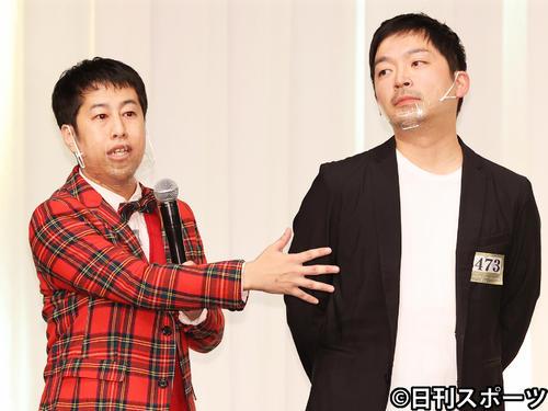 ウエストランドの井口浩之(左)と河本太(2020年12月2日撮影)