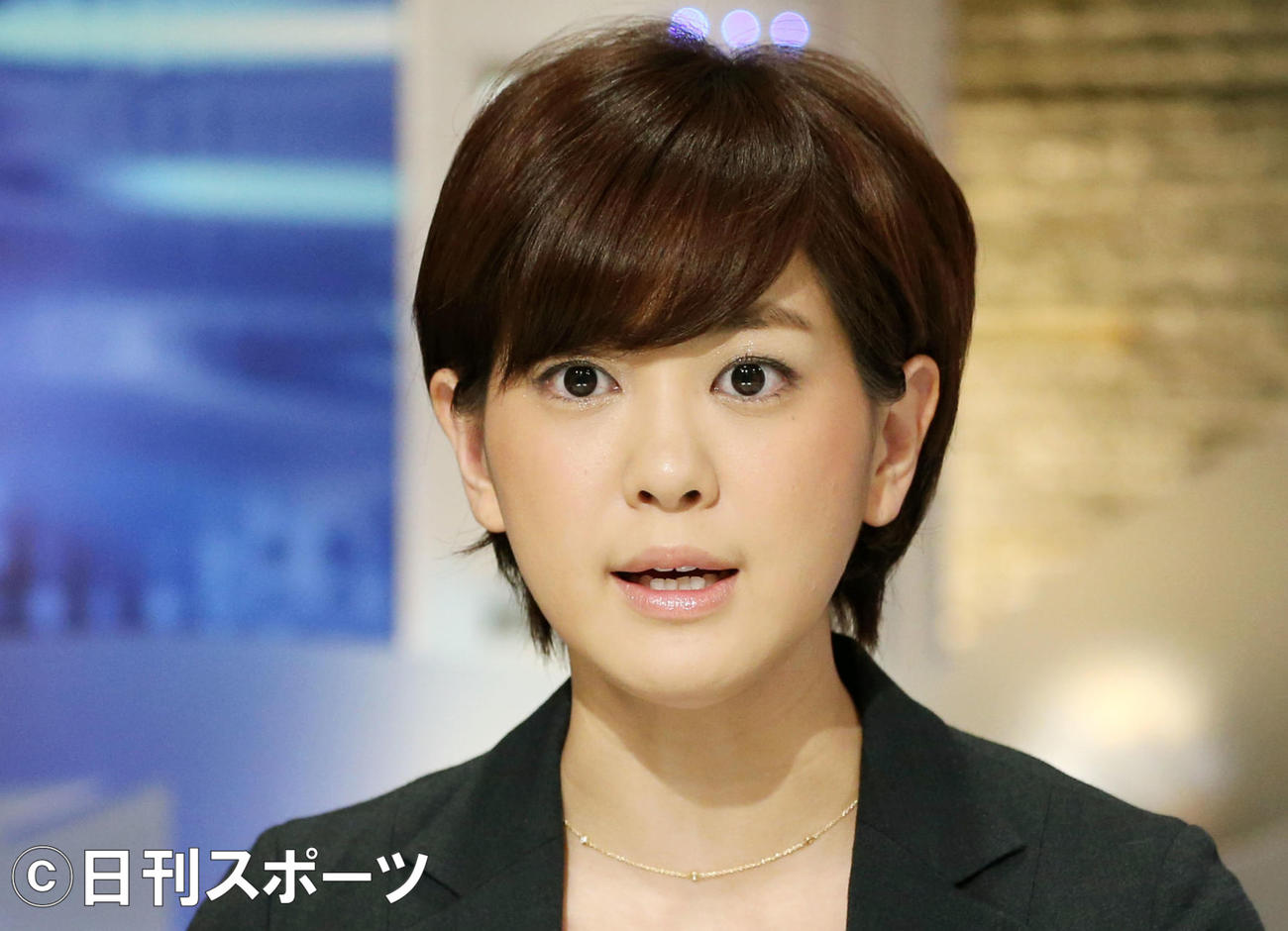 ABC塚本麻里衣アナウンサー(2013年11月26日撮影)