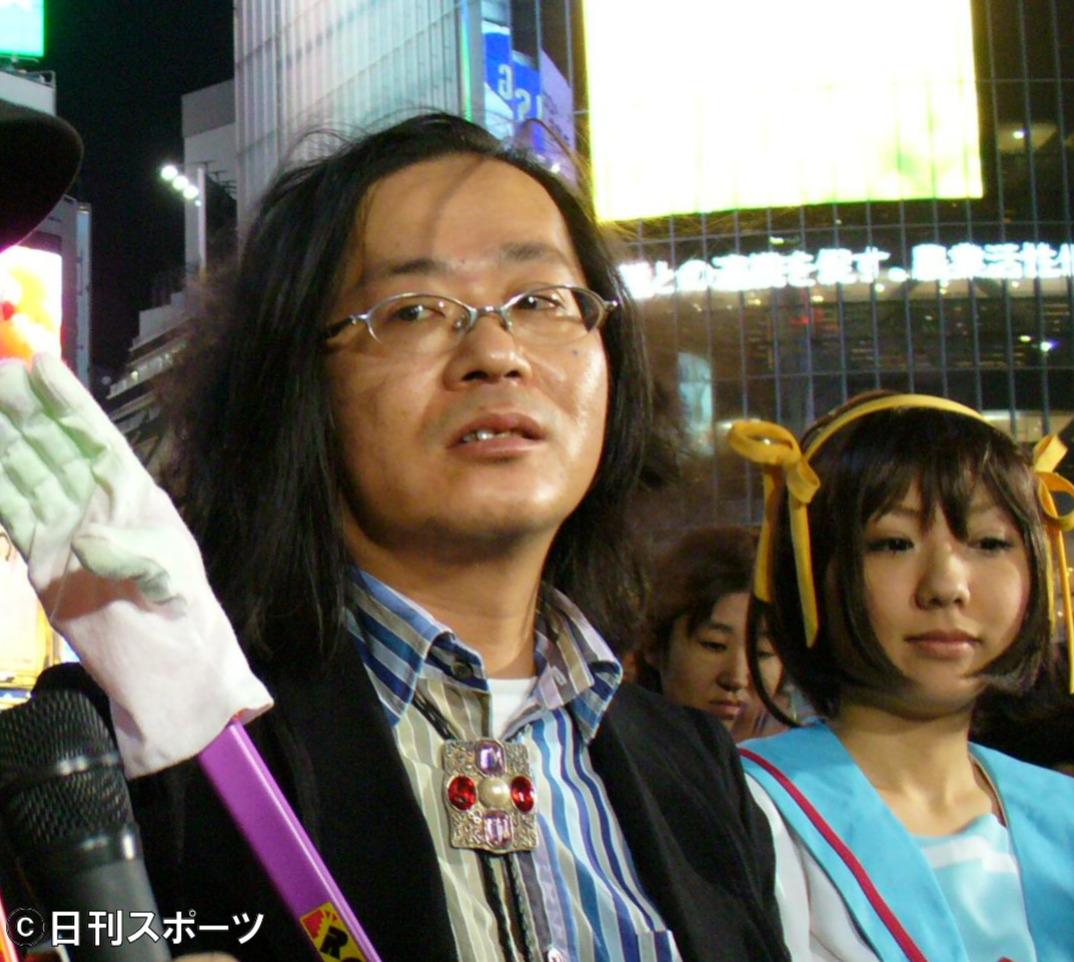 渋谷区長選に立候補した宅八郎候補(2007年4月21日撮影)