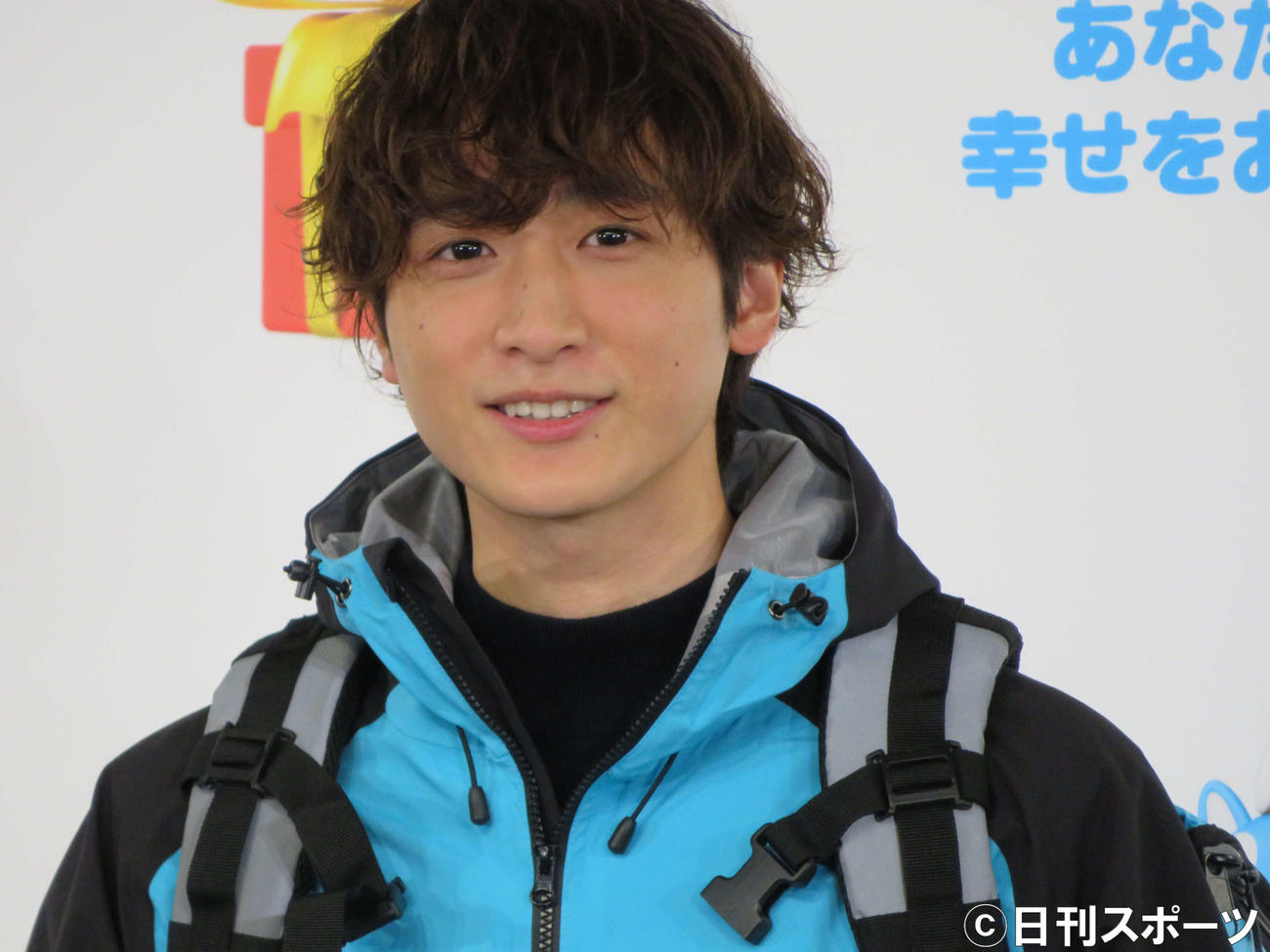 「Wolt BLUE SANTA SPECIAL」開始記念PRイベントに出席した小関裕太(撮影・三須佳夏)