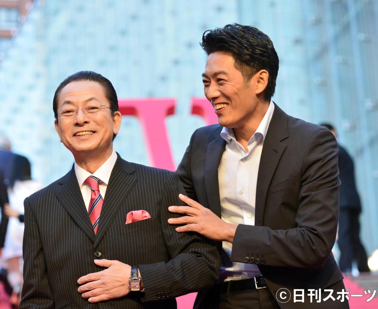 水谷豊(左)と反町隆史(2017年1月24日撮影)
