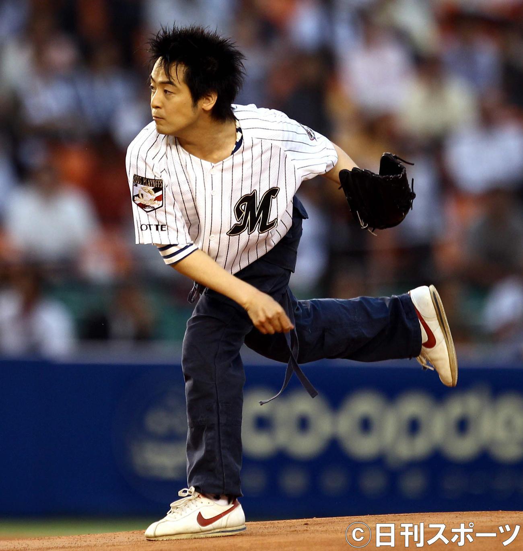 12年6月5日、ロッテ対DeNAで始球式を行った今井ゆうぞうさん