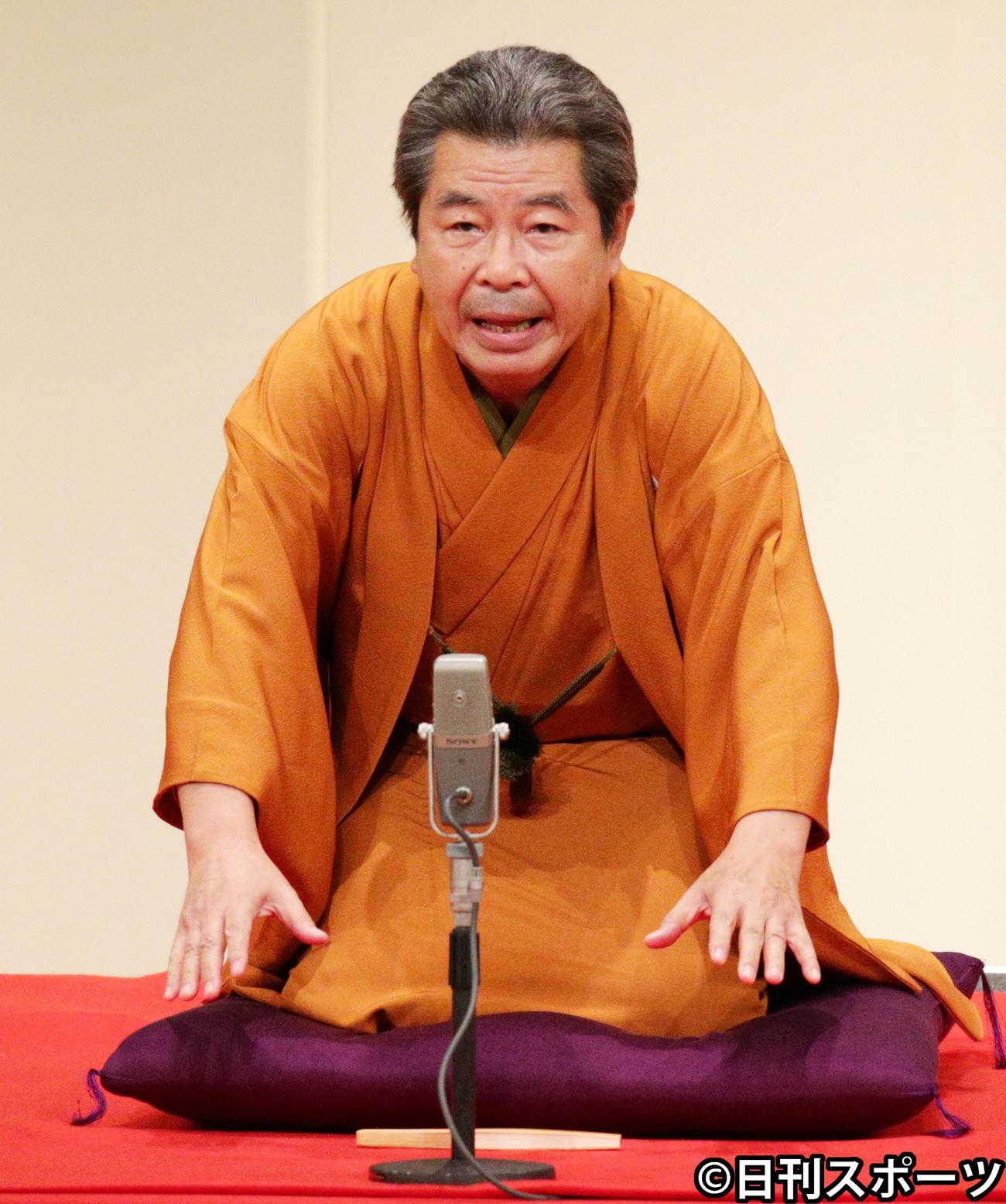 立川志の輔(2015年5月29日撮影)