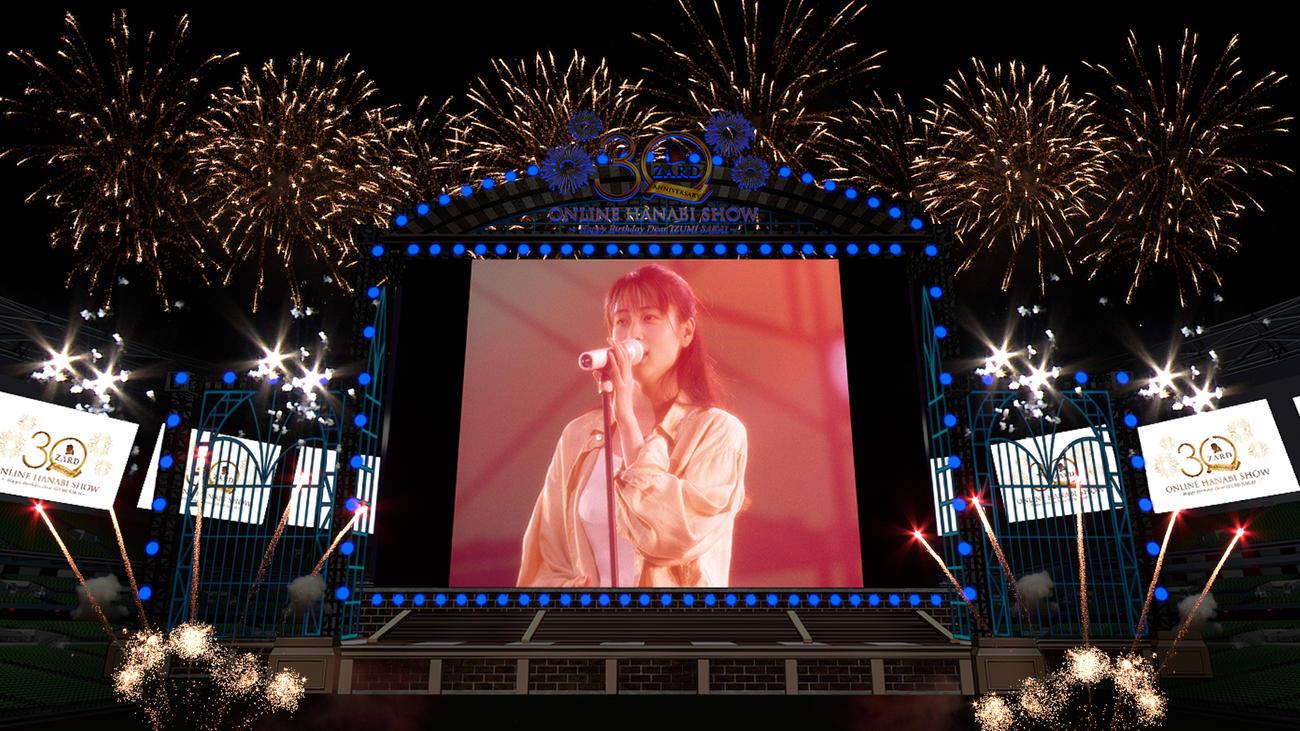 坂井泉水さんの誕生日に行われる「ZARD 30th Anniversary ONLINE HANABI SHOW」のイメージ図
