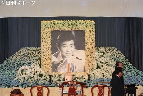 故石原裕次郎さんの遺影(1987年8月11日撮影)