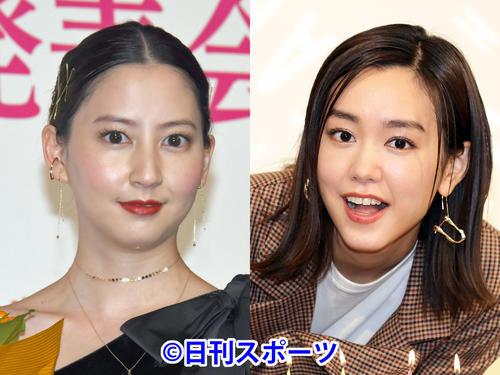河北麻友子(左)と桐谷美玲
